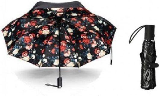 Remax RT-U3 Mini Automatic Open and Roll Umbrella - Black