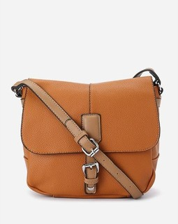 Shoe Room Leather Cross Bag - Camel