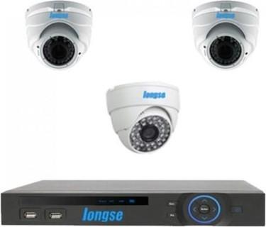 Longse AHD P2P DVR 4 Channels + 2 Indoor Vandal Proof Metal 1.3MP + 1 Indoor 1MP CCTV Security Camera
