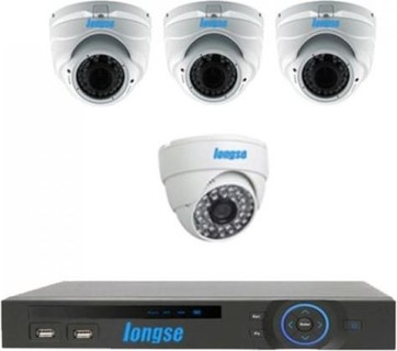Longse AHD P2P DVR 8 Channels AND 3 Indoor Vandal Proof Metal 1.3MP AND 1 Indoor 1MP CCTV Security Camera