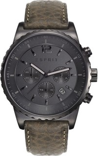 Esprit ES108231004 Leather Watch - Green