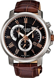 Casio BEM-506GL-1A Leather Watch - Brown