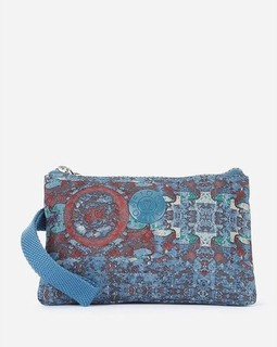 Fido Dido Small Psychedelic Wrist Bag - Teal Blue
