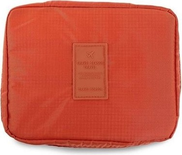 TRAVEL SEASON Outdoor Toiletry Cosmetic Bag - Orange