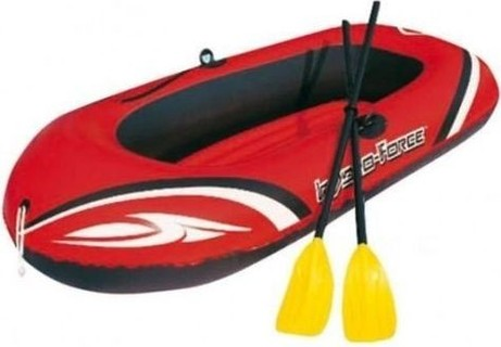 Bestway Hydro-Force Inflatable Raft with Oars & Pump - Red