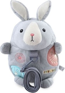 Metoo Unisex Kids Backpack with Anti-lost Belt Grey Rabbit