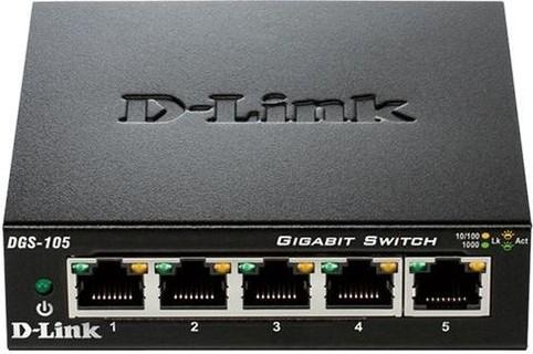 D-Link DGS-105 - 5-Port Gigabit Unmanaged Desktop Switch