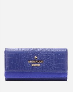 Shoe Room Textured Leather Wallet - Navy