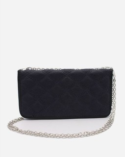 Ravin Quilted Clutch - Black