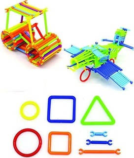 Puzzle Toys Interlocking Plastic Creative Building Blocks - 3D Puzzle - 200 Grams