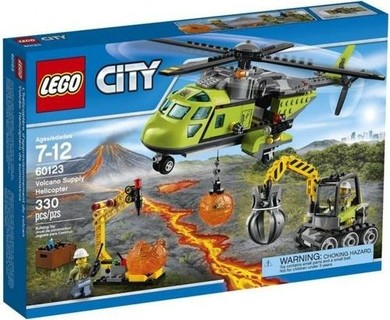 Lego 60123 City Volcano Explorers Helicopter Building Kit - 330 Pcs