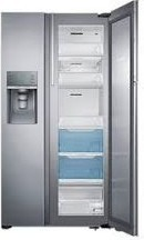 Samsung RH77H9-7F Side-by-Side Refrigerator - 36 FT Silver