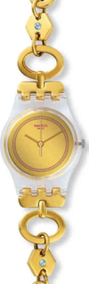 Swatch LK346G Stainless Steel Watch - Gold