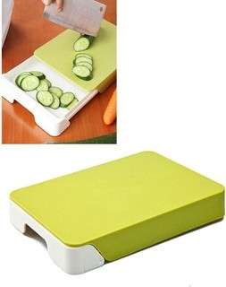 Gallopers Cutting Board with Storage Drawer - White Green