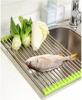 As Seen on TV Stainless Steel Roll Up Dish Drying Rack
