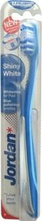 Jordan Shiny White Toothbrush - Blue