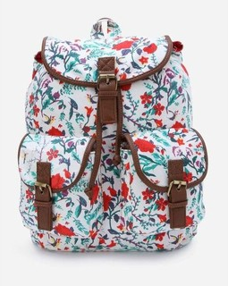 Nas Trends Floral Backpack - White
