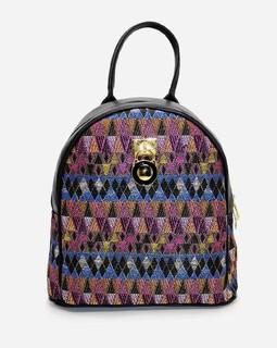 Tata Tio Studded Leather Backbag - Fuchsia