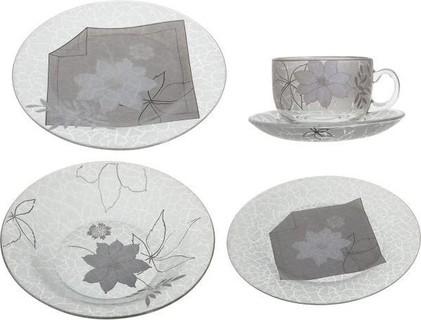 Vitriaress W-2014 Pyrex Dinnerware Set, Glass - 20 Pieces