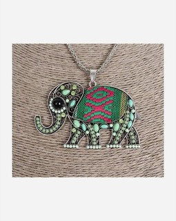 Variety Elephant necklace - Silver