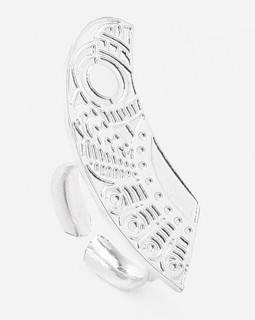 Magdy Mosaad Jewelry Silver Plated Fashionable Ring Silver