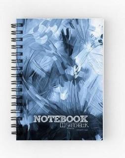 SketchBook NoteBook - 14 X 10 cm - 80 gm Paper - Brush Strokes Blue