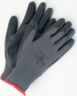 Safe Guard working Polyester liner PU coated glove
