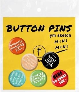 YM Sketch Mini Mini Pin Pack - 6 Pcs
