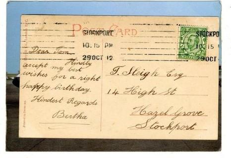 Early 1912 Belgium Postcad