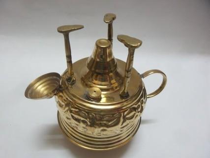 سبرتاية نحاس منقوشة صناعة يدوية لعمل القهوة