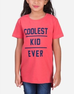 Andora Coolest kid T-Shirt - Melon red