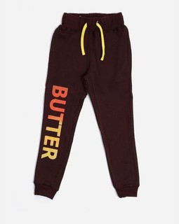 Andora Girls Printed Sweatpants - Dark Burgundy