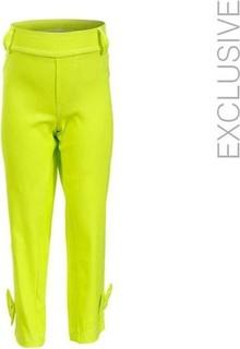 Dandasha Girls Cropped Pants - Neon Green