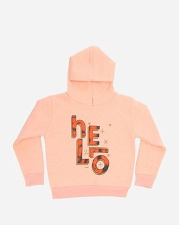 Andora Girls Hooded Neck Sweatshirt - Peach Orange