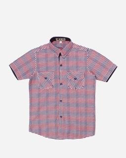 Evo Boys Plaids Shirt - White, Red & Blue