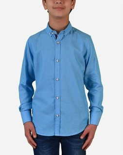 Town Team Boys Long Sleeves Shirt - Turquoise