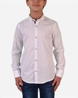Town Team Boys Long Sleeves Shirt - White