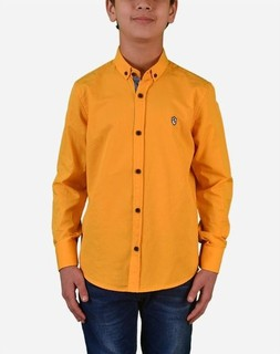 Town Team Chest Logo Long Sleeves Shirt - Yellow