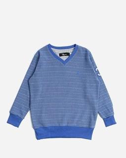 Andora Boys Striped Sweatshirt - Indigo