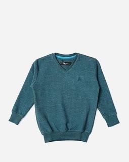 Andora Boys V-Neck Sweatshirt - Cadet Blue