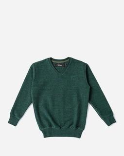 Andora Boys V-Neck Sweatshirt - Pine Green