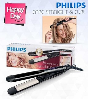 Philips Care Straight & Curl Straightener HP8345