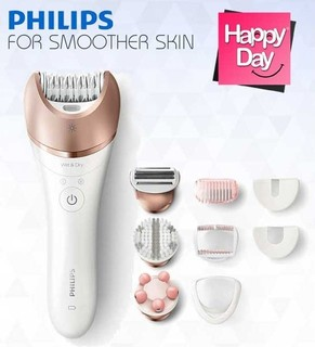 Philips Satinelle Prestige Wet & Dry epilator BRE650 For legs, body and face 8 accessories