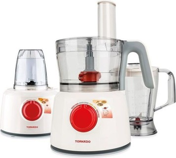 Tornado Food Processor 1000 Watt with 1.2 Liter Bowl & 1 Liter Blender TFP-1000CC