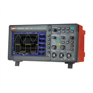 UNI-T digital oscilloscope is a dual channel oscilloscope with 50MHz bandwith, 1 GS s sample rate and 2 600 K memory length. There is USB host for external devices connection.