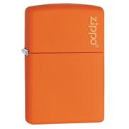 Zippo Lighter With Logo Matte Orange ZP-231ZL