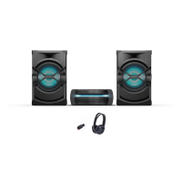Sony HCDSHAKEX30 High-Power Home Audio System with Bluetooth, Black