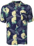 Fake Alpha Vintage 1950s John Meigs Hawaiian village print shirt