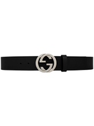 جوتشي حزام من جلد غوتشي مع إبزيم G.