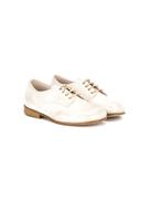 Pèpè Pp metallic lace up shoes